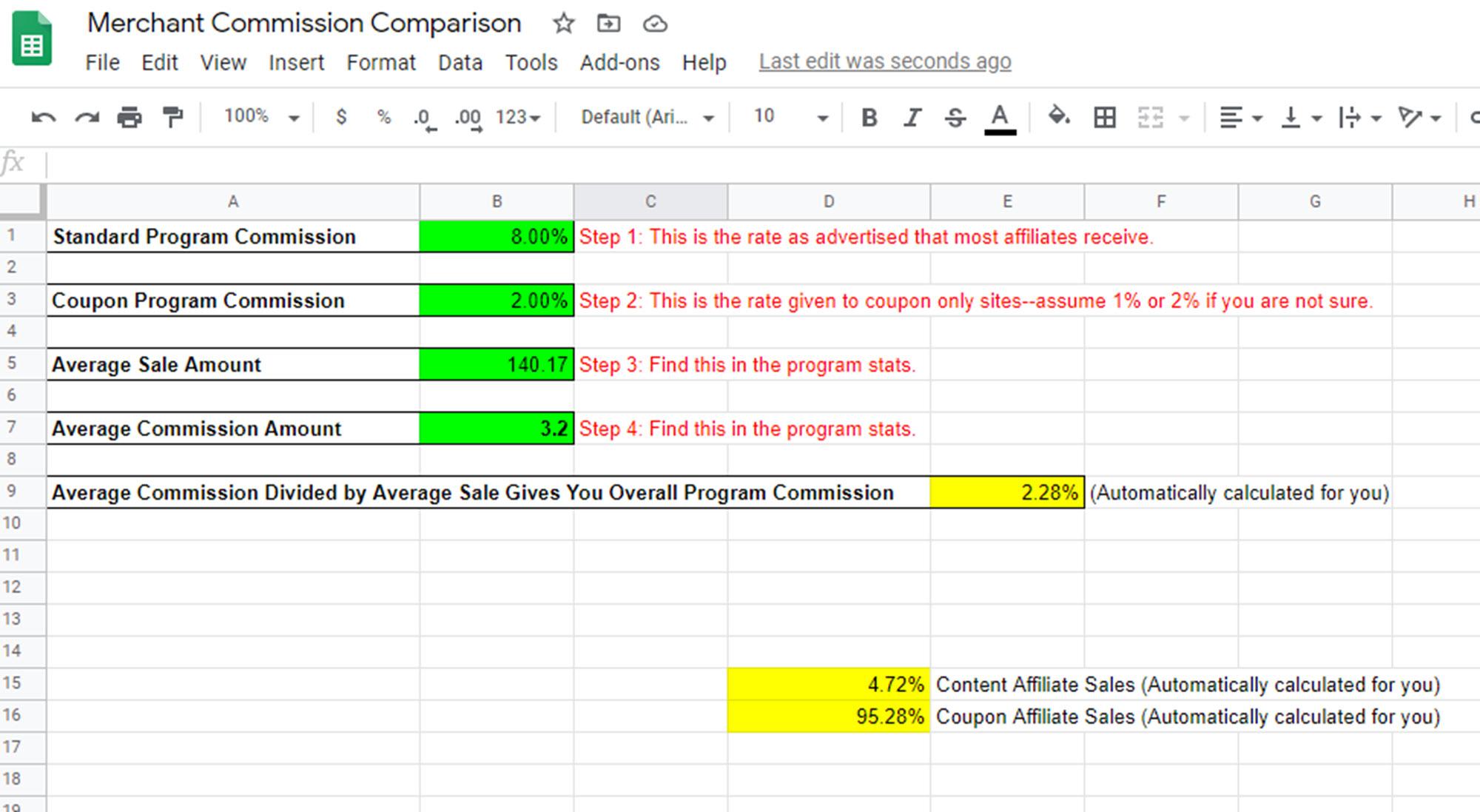 Calculate Content Versus Coupon Ratio for Your Merchants